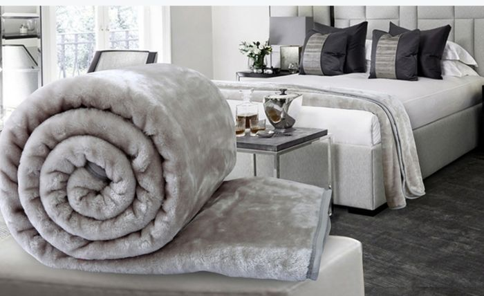 Silver/grey Blanket 200x240cm