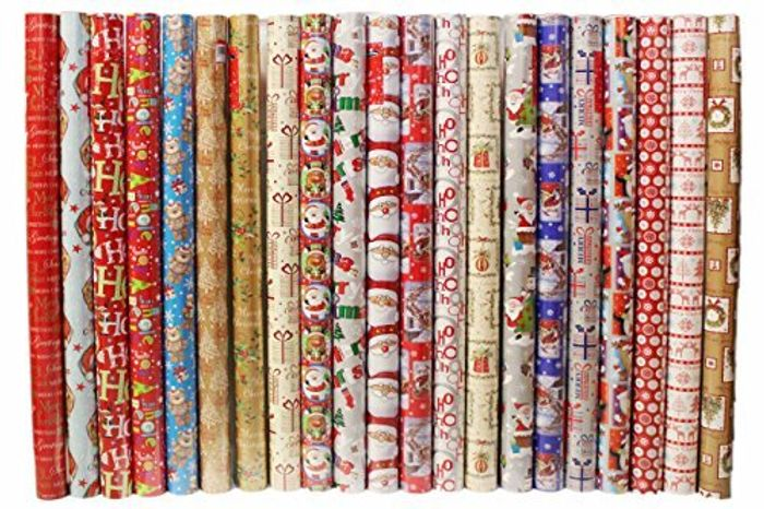 Cheap Christmas Wrapping Paper Rolls - Snowman / Santa / Penguin / Reindeer