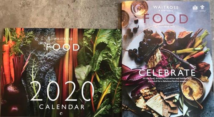 Free 2020 Calendar inside Magazine FREE for MyWaitrose Card Holders at Waitrose