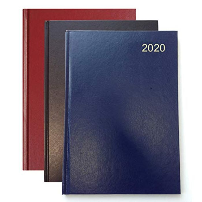 Collins Essential A4 Day to Page 2020 Leather Diary FREE DELIVERY