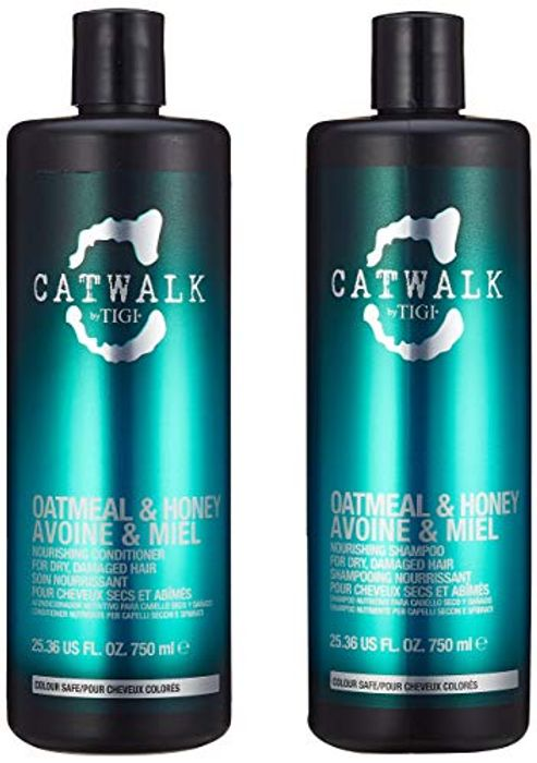 Catwalk by Tigi Oatmeal & Honey Repair Shampoo & Conditioner, 750 Ml, Pack of 2