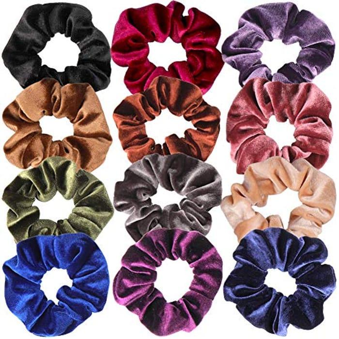 H&S Scrunchies Hair Bobbles Velvet