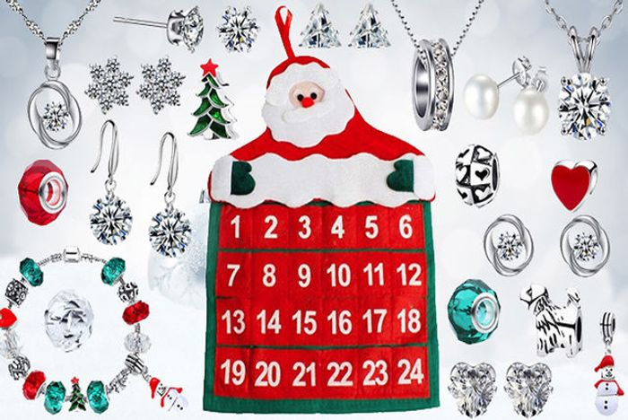 24-Day Jewellery Advent Calendar with Gifts Made with Crystals from Swarovski !