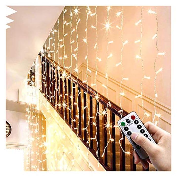 LED Window Curtain Fairy Lights 306 LEDs 3m X 3m