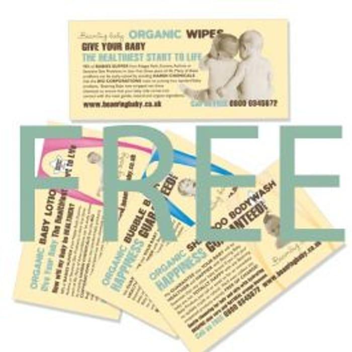FREE SAMPLE PACK Organic Baby Wipes Sachets Organic Baby Bath Sachets