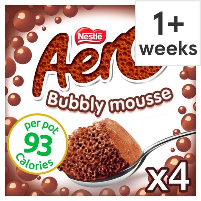 Nestle Aero Chocolate Mousse 4 Pack 236G - HALF PRICE!