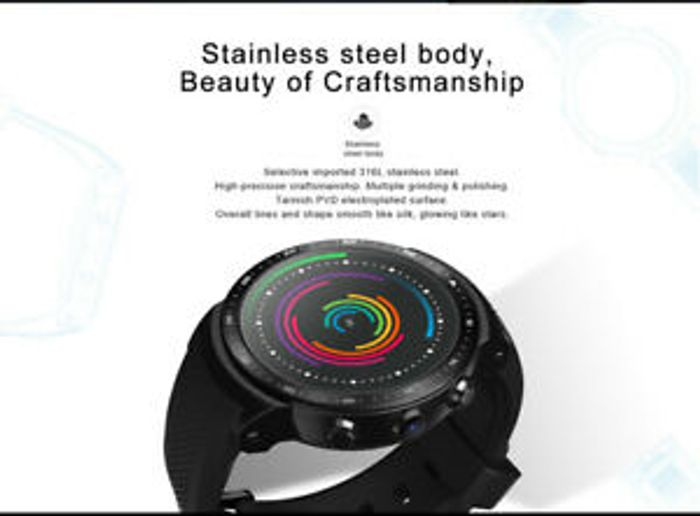 Zeblaze THOR Pro 3G GPS Smart Watch Phone 1.53inch IPS 1GB+16GB Nano SIM UK S5R4