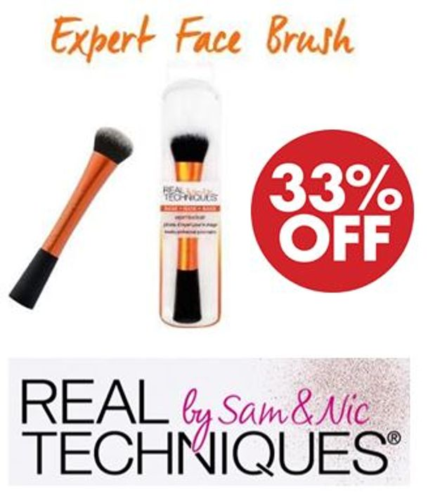 Real Techniques Expert Face Foundation Makeup Brush - 32% Off!