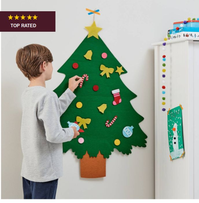 Cheap Decorate Your Own Felt Christmas Tree Kit, Only £6!