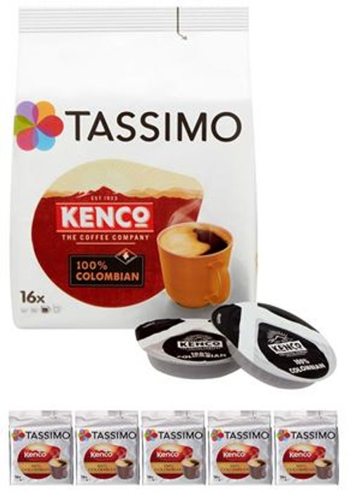 Tassimo Kenco Colombian Coffee Pods (5 X 16, Total 80 Pods) - Save £4.95!