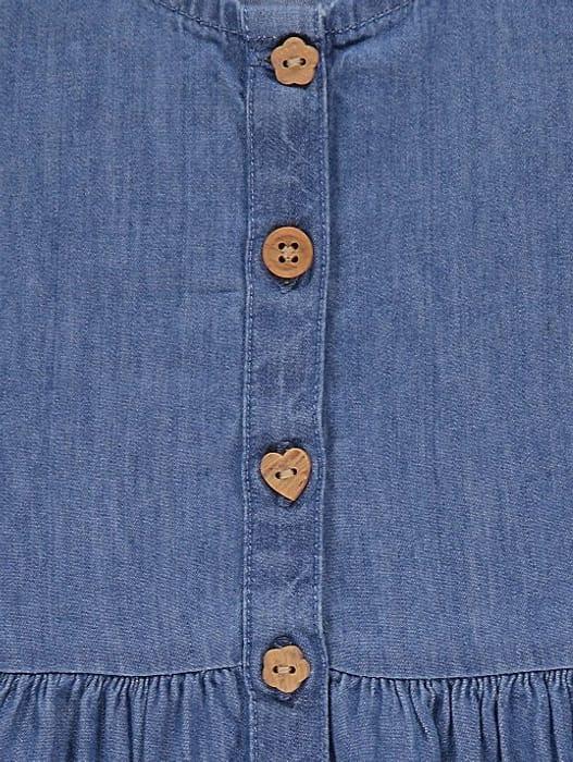 Denim Short Sleeve Button Dress