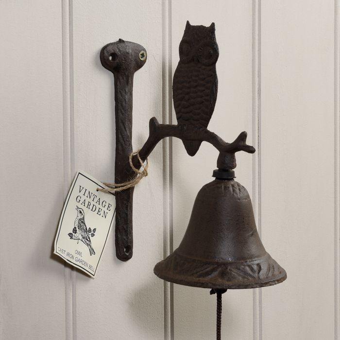 Cast Iron Owl Garden Bell (Great Gift Idea, Amazing Price!!!)