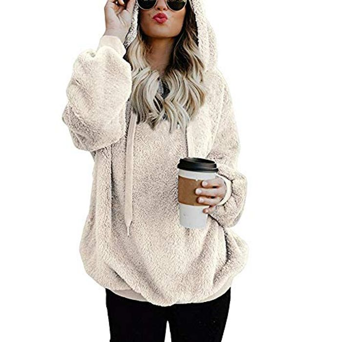 90% off - AKAIDE Womens Hoodies Casual Faux Fleece