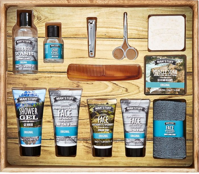 MAN' STUFF Man Stuff Grooming & Washing Gift Set Drawer