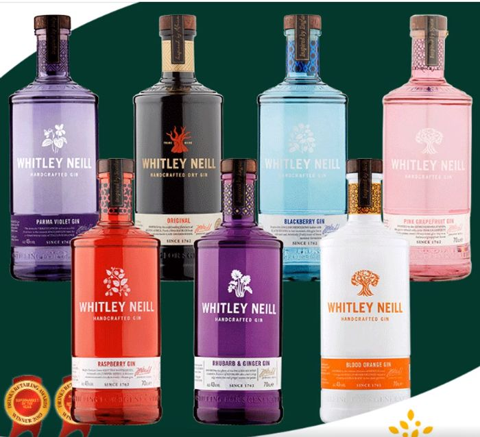 All Whitley Neill Gins Now £20 - Inc Parma Violet, Blackberry & Blood Orange