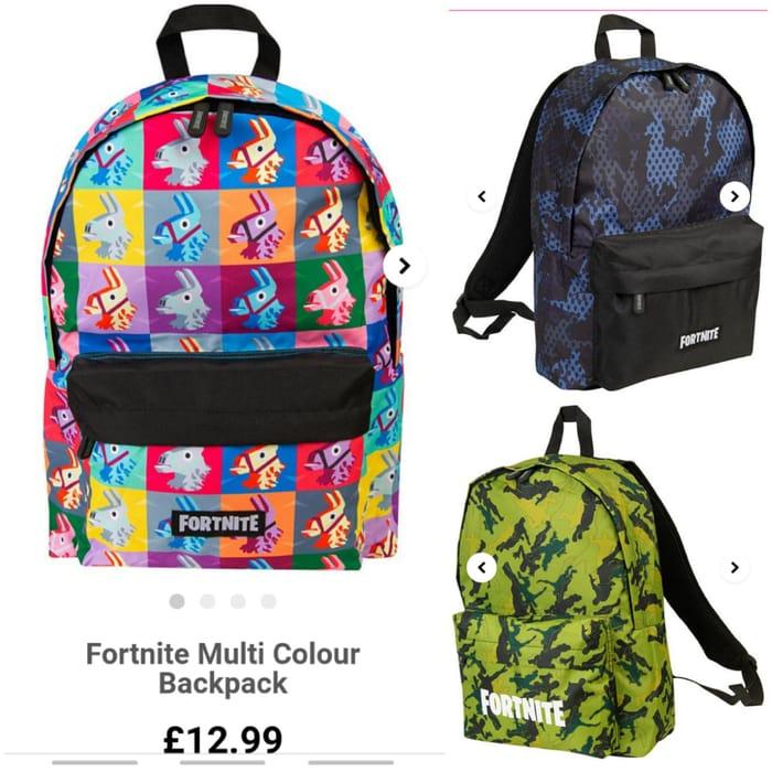 FORTNITE Backpacks £12.99 Each.