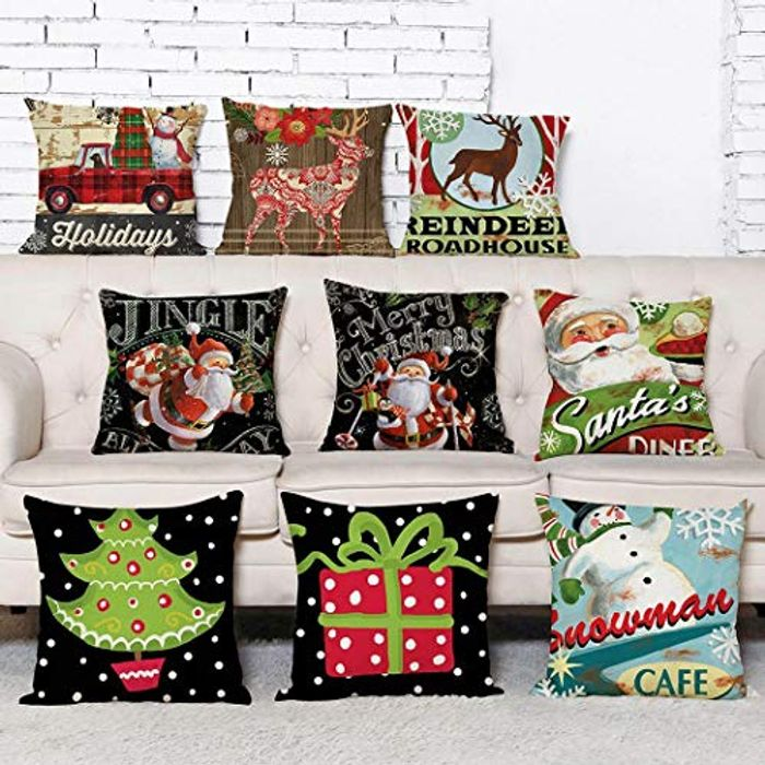 Cheap Christmas Cushion Covers on Sale From £7.98 to £2.4 with Discount Code