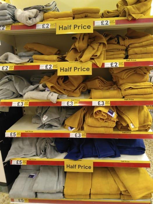 Bath Towels £3, Sheets £5, Hands £2 Half Price at Tesco