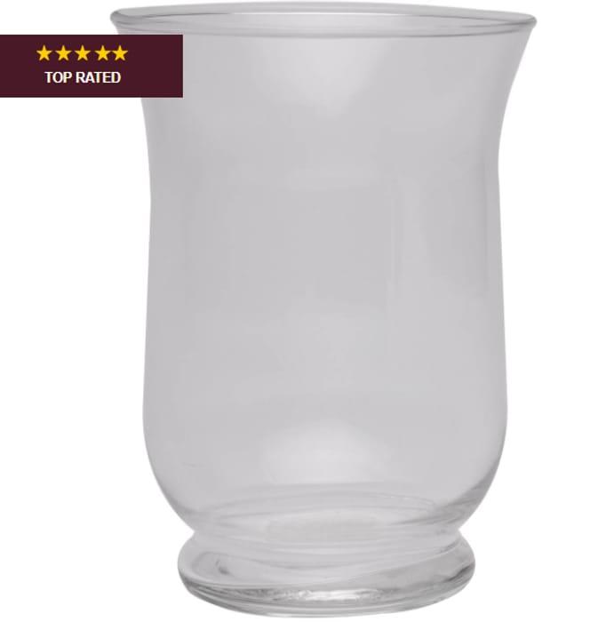 Large Hurricane Glass Vase 14.5cm X 10.5cm