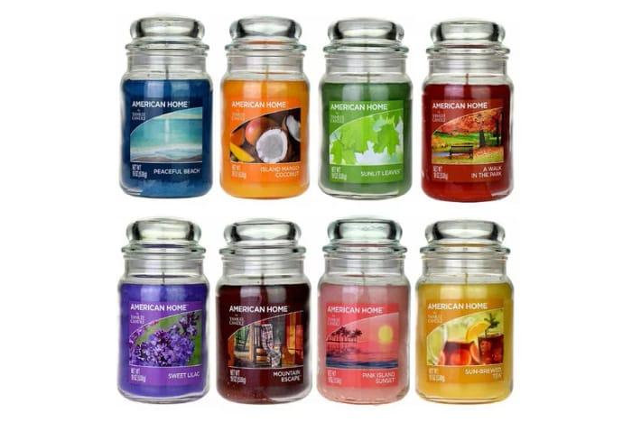 19oz Yankee Candle & Glass Jar - 17 Fragrances!