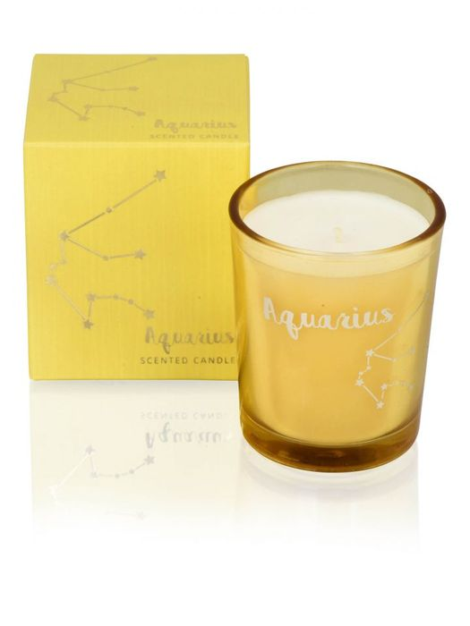 Zodiac Candle - Aquarius on Sale From £4 to £1.99!