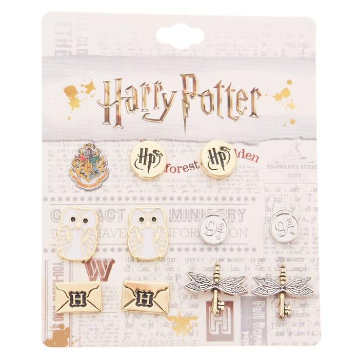 Harry Potter Assorted Stud Earring Set - 5 Pack