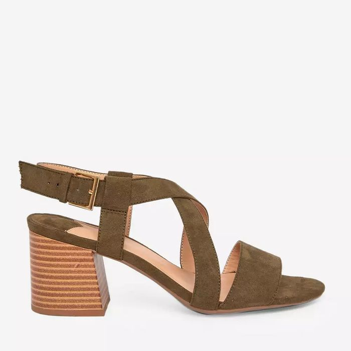 Cheap Dorothy Perkins - Green Beamer Cross over Sandals with £15 Discount!