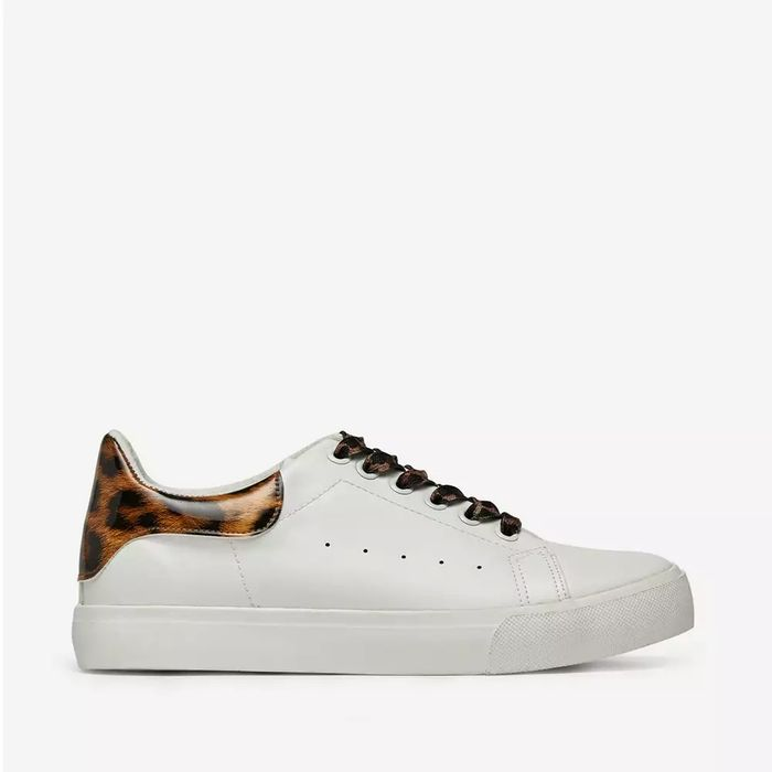 Cheap Dorothy Perkins - White Leopard Print Iris Trainers - Save £8!