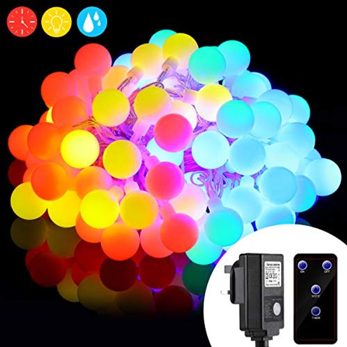 Save 50% RGB Globe String Light 10M 100 LEDs Fairy Lights with Remote Control