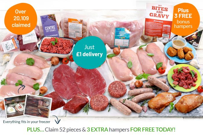 Best Price! Hidden Secret Deal - Buy 1 Super Lean Meat Hamper Get 3 FREE - Meals