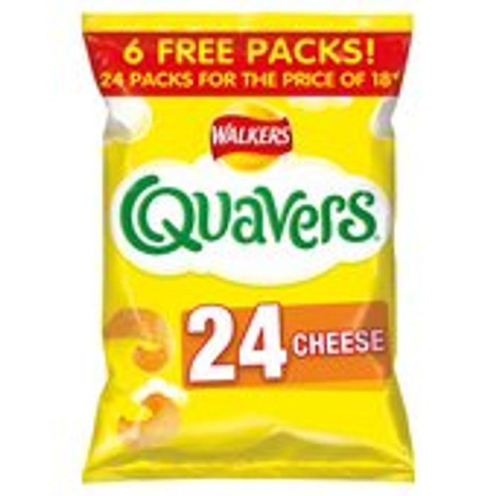 Walkers Quavers 24 Pack - Save £1.50!