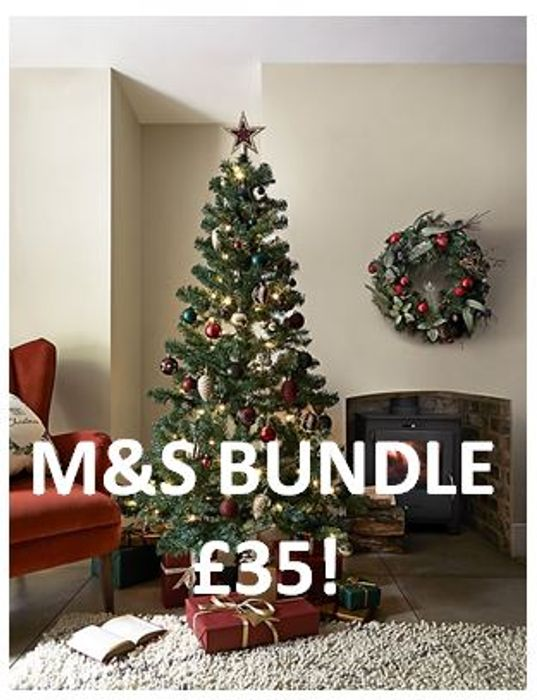 Best Price! 6ft Christmas Tree Bundle at Marks and Spencer