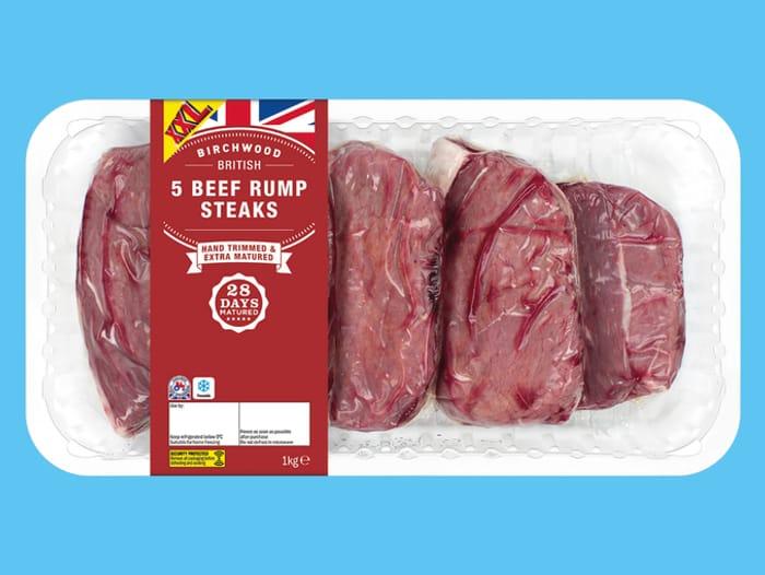 Birchwood 5 British Beef 28-Day Matured Rump Steak