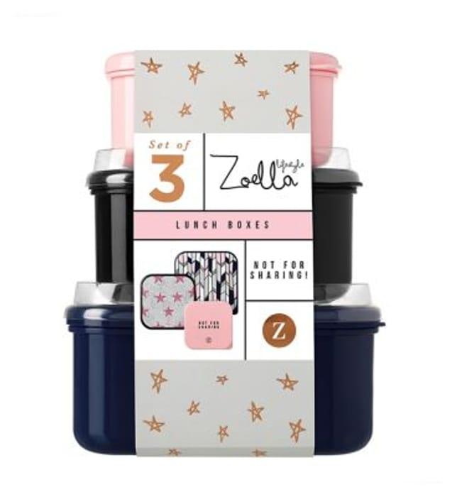 Zoella Lifestyle Set of Three Lunch Boxes - HALF PRICE!