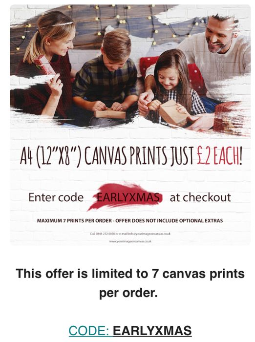 Image on Canvas BUY ONE, GET TWO FREE!