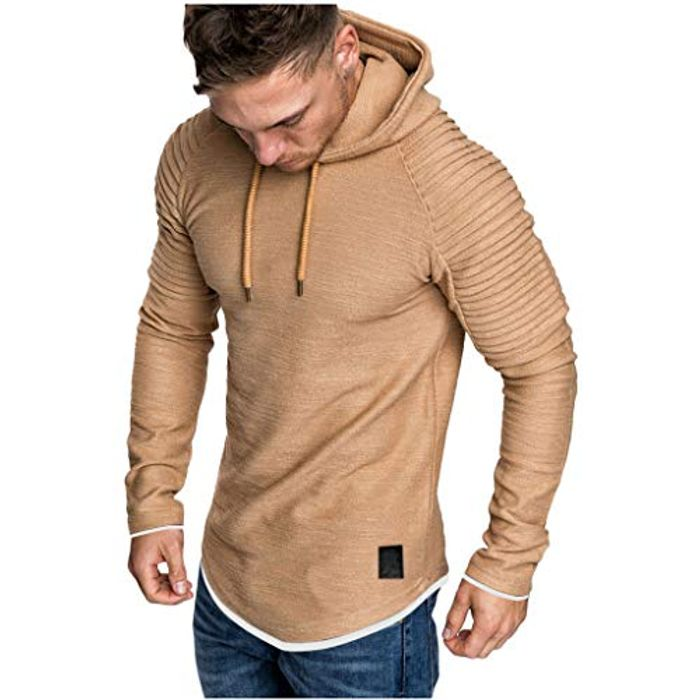 Men's Autumn Spring Solid Color Long Sleeve Hoodies