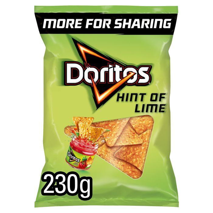 Doritos Hint of Lime Tortilla Chips 230G - HALF PRICE!