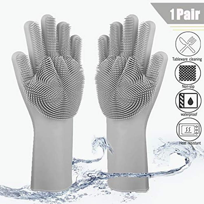 Lightning Deal Magic Silicone Diswashing Gloves