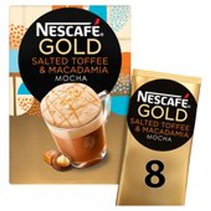 Best Price! Nescafe Gold Salted Toffee & Macadamia Mocha 8 Mugs 156g