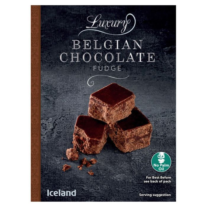 Iceland Luxury Belgian Chocolate Fudge 150g