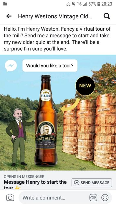 Free Bottle of Cider