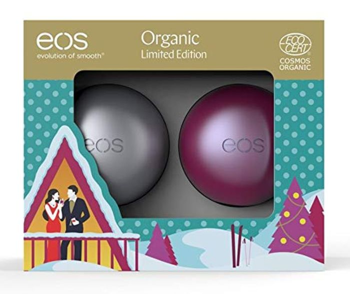 Eos - Evolution of Smooth Duo Organic Sugar Plum and First Snow Lip Balm