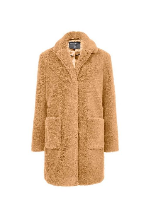 Longline Teddy Coat at Dorothy Perkins
