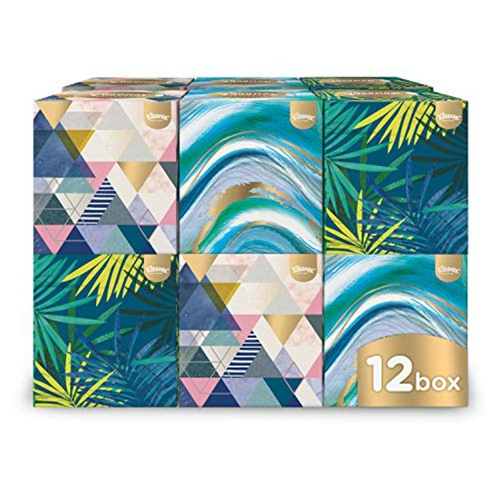 Kleenex Cube Tissues X 12 at Amazon - Only £6.6!