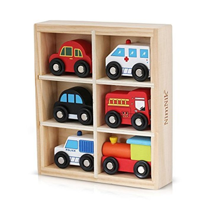 Cheap NimNik Wooden Toys Cars at Amazon - Only £11.02!