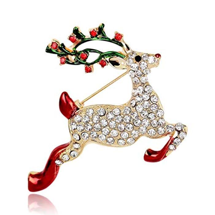 Christmas Reindeer Brooch - Only £1.44!