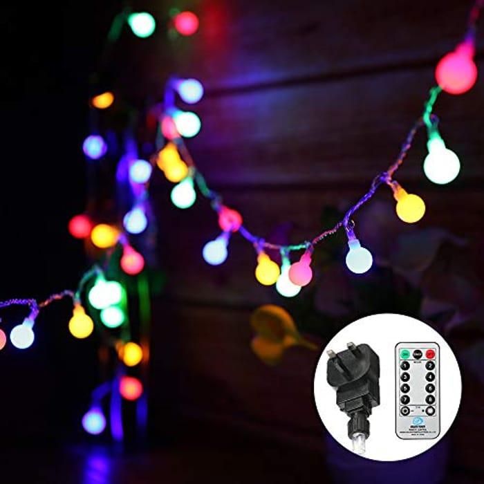 Globe String Lights, Mains Powered, 13M/43ft 100 LED