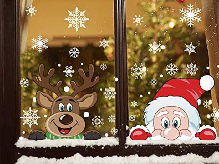 76 Pieces Peeping Santa and Rudolph