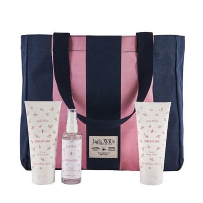 Jack Wills Ladies Weekend Bag Gift Set - HALF PRICE!