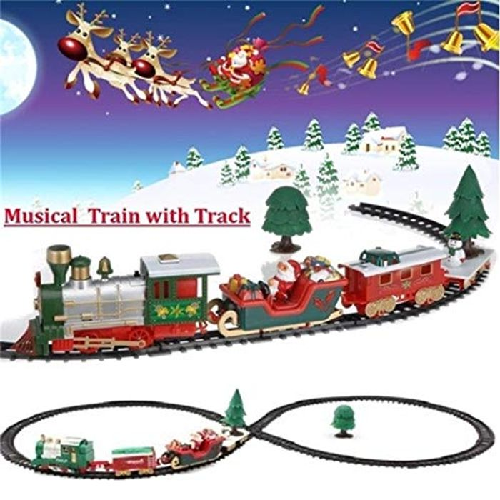 Mini Electric Christmas Track Train Toy 70% off + Free Delivery